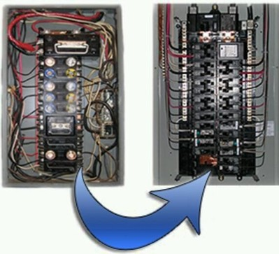Fuse box panel upgrade circuit breaker repair mr for Best electrical panel for house