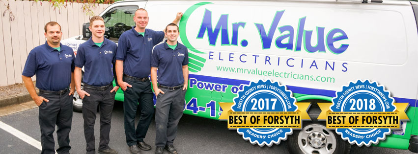 Mr Value Electricians Best of Forsyth Winners 2017 and 2018 image